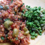 Tomato Paella & Pea Salsa
